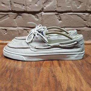 Sperry Top Sider, size 10, grey, like new.